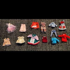Sweet lot of child Barbie size clothing